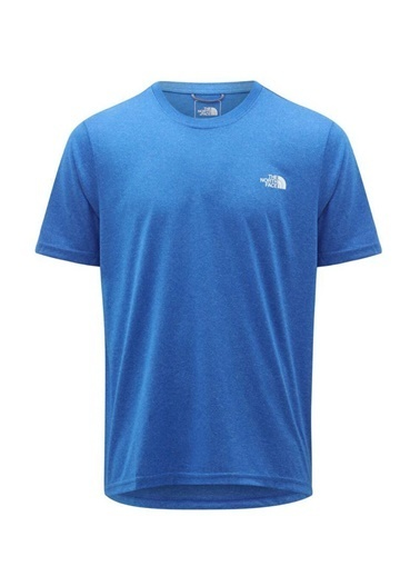 The North Face Reaxion Crew Erkek T-Shirt Mavi Mavi